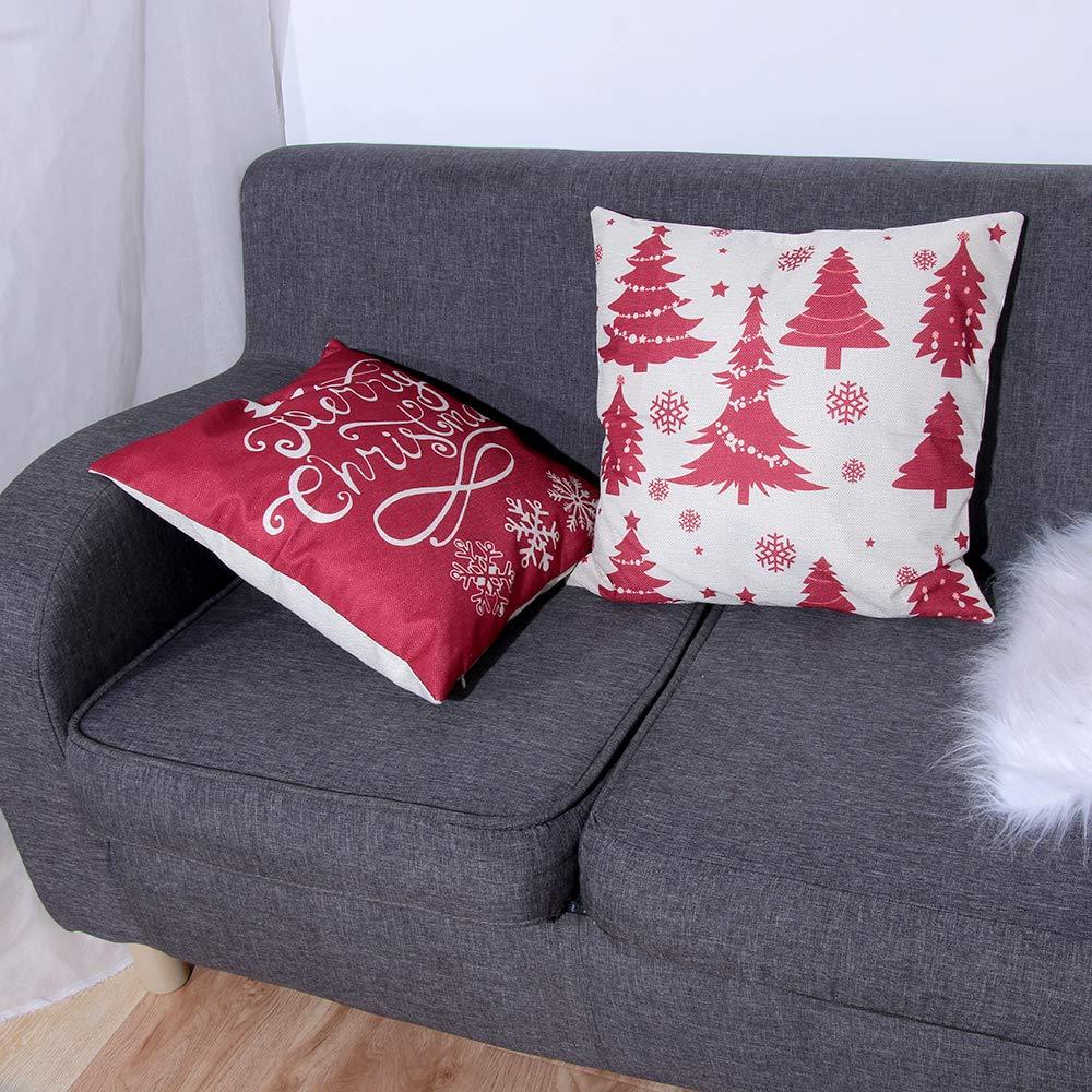 cloforsale 18X18 Pouces canap/é Housse de Coussin no/ël Cadeau d/écoration de Voiture Voiture d/écoration Coussin de No/ël taie doreiller Style 4