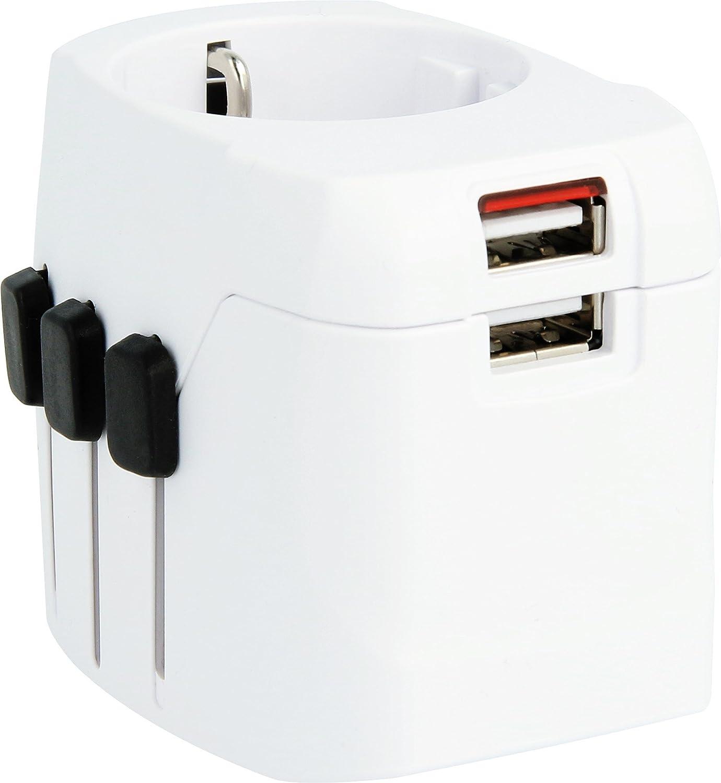 Skross Adaptateur de voyage 1.302540 monde Pro Light USB Blanc