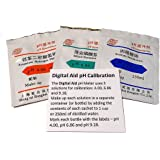 Digital Aid pH Buffer Solution Powder for Perfect pH Meter Calibration. Light and Portable Just Add Distilled Water. Makes 3 Cups or 8Oz Jars. 1 of Each 4.00pH, 6.86pH, and 9.18pH Solution.