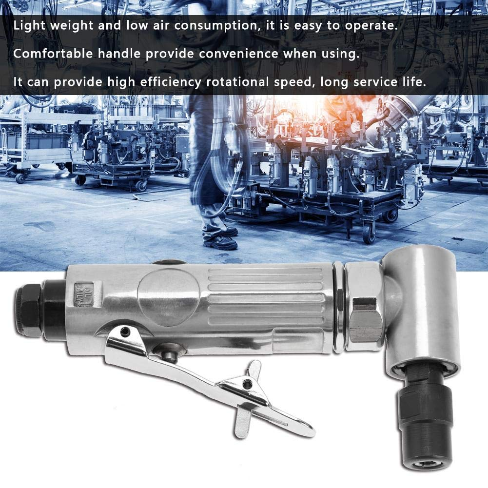 Ftvogue 3-6Mm Chunk Polisher 2000Rpm Industrial 90 /° Amoladora Neum/áTica Molienda Herramienta de Limpieza Bend Mini Taladradora El/éCtrica