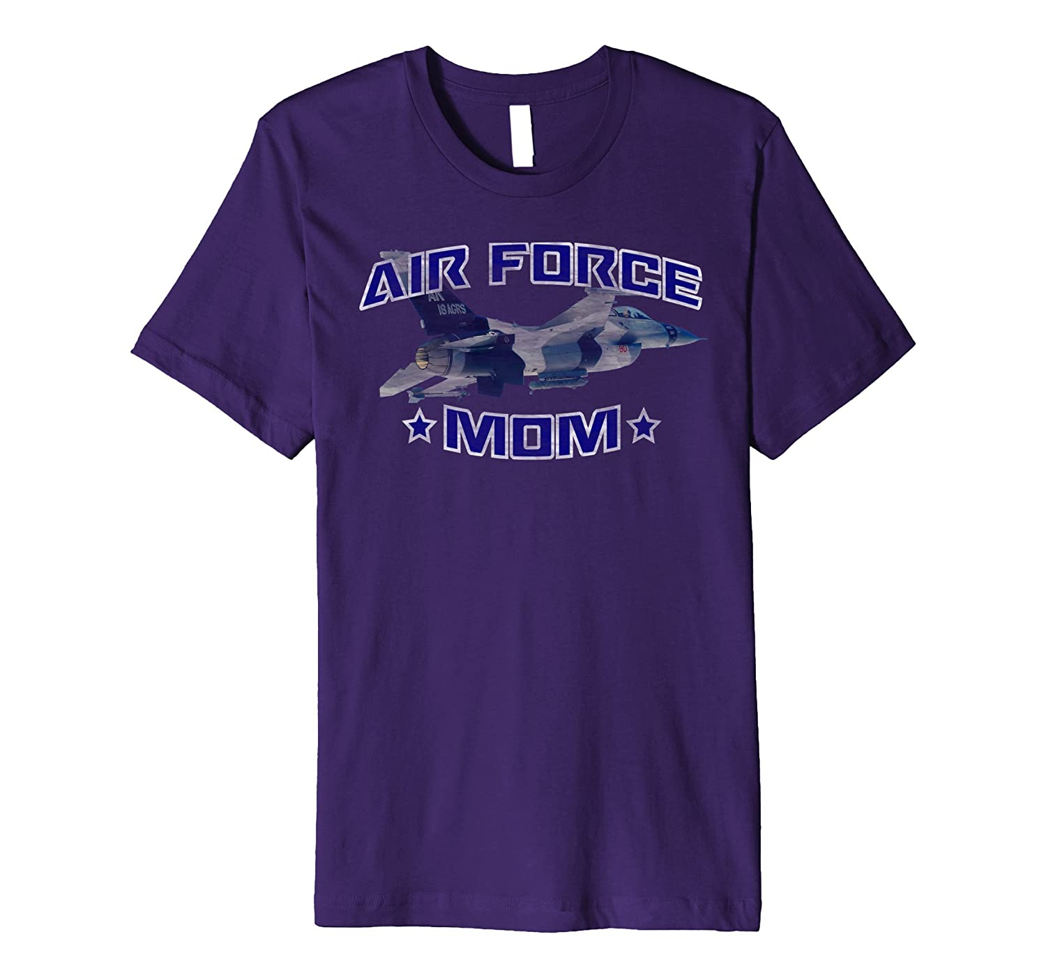 AIR FORCE MOM F-16 FIGHTING FALCON DISTRESSED T-SHIRT-PL