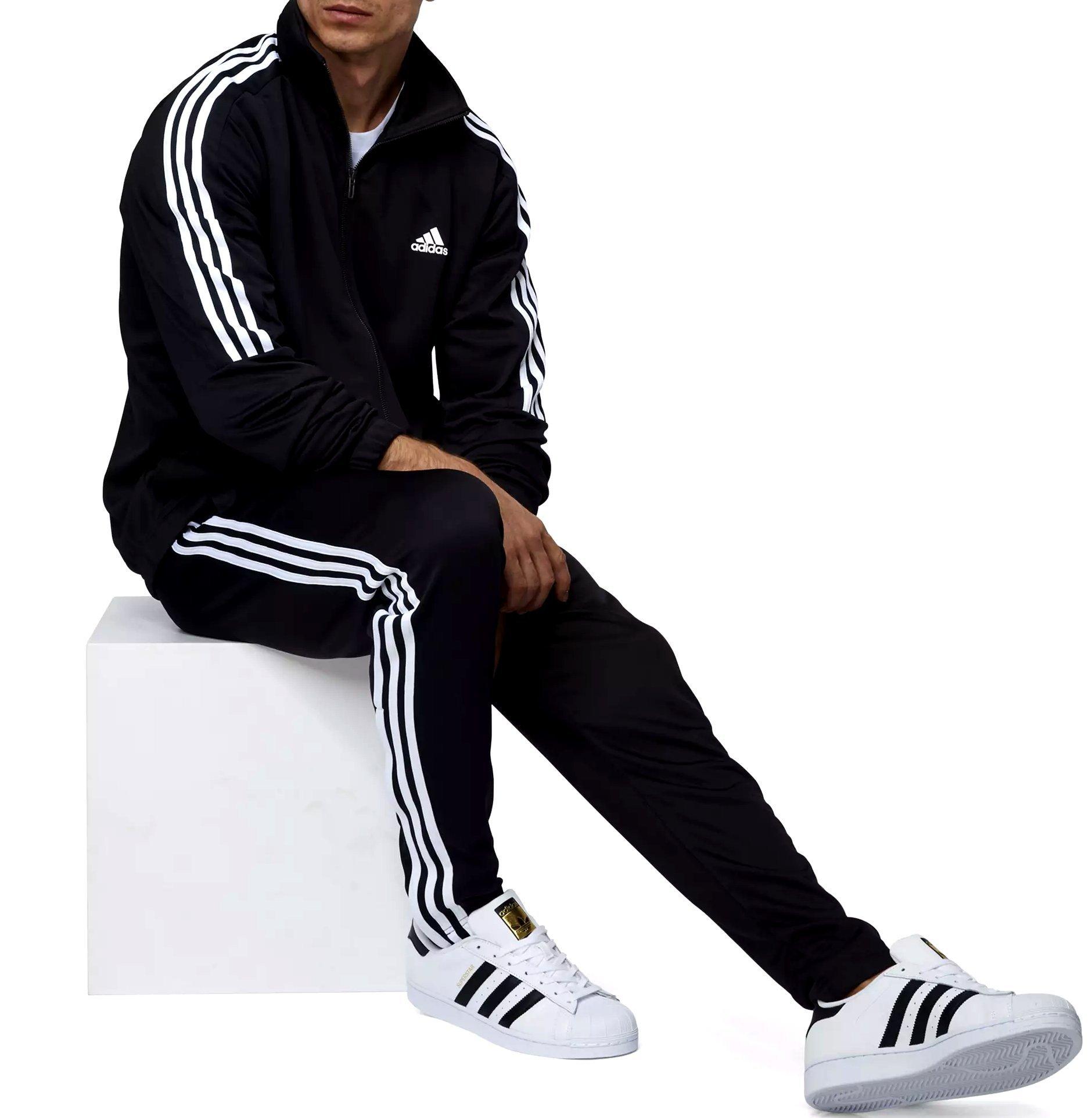 Adidas Tiro Track Suit 3 Stripes Tracksuit Black/White (XL)