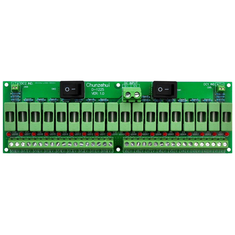 Electronics-Salon 18 Channels 12V/24V 20A Power Distribution Fuse Module, For CCTV Security Camera ect DIY. by Electronics-Salon (Image #9)
