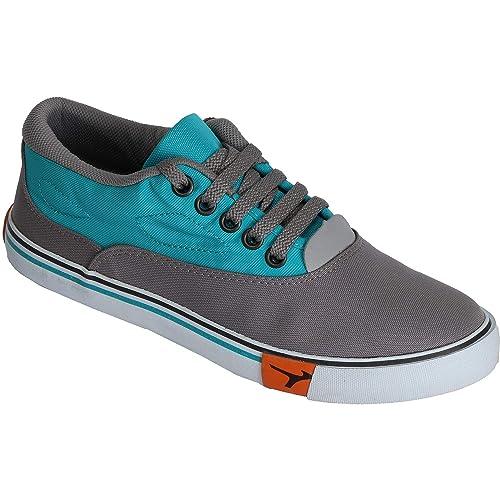 Lakhani Men Grey Canvas Shoes Sneakers