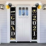 Graduation Decorations-2021,Graduation Decoration Hanging Banner Home Door Porch , Welcome Home Decor Sign,Congrats Graduatio