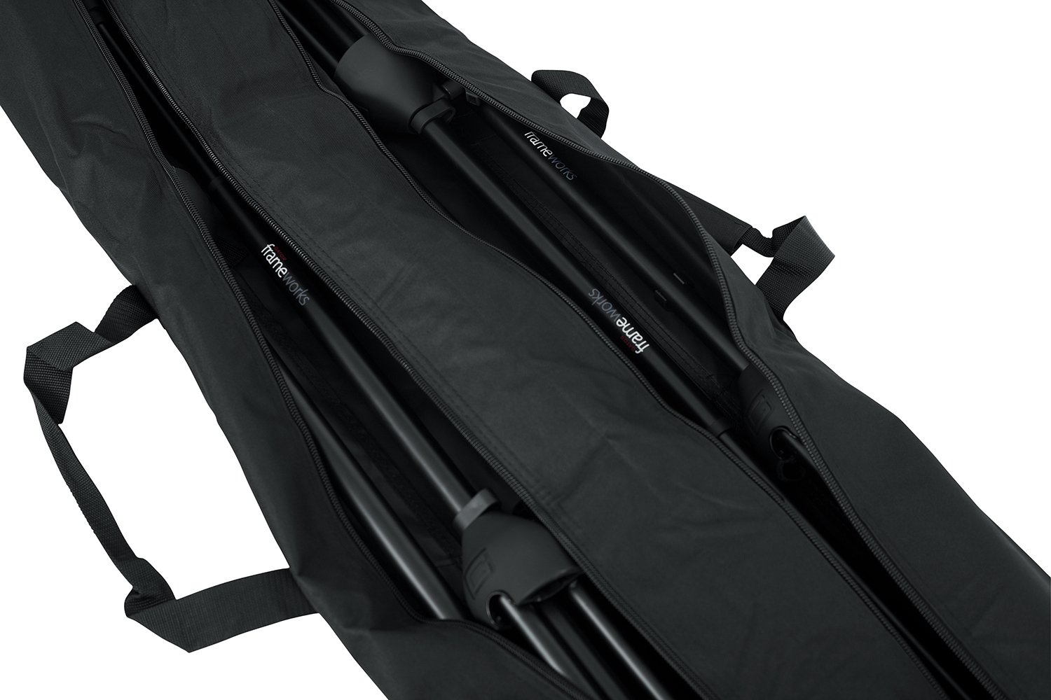 Gator Cases Dual Compartment Stand Carry Bag with 50 Interior; Holds Speaker Microphone or Lighting Stands GPA-SPKSTDBG-50DLX