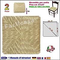 Seduta Fondo Simil Paglia, Cellulosa FACILCASA Ricambio per Sedia Pisa Art.1002