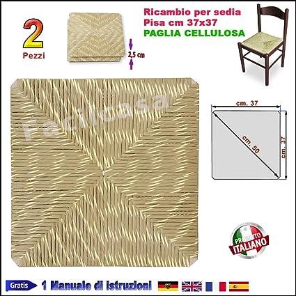 Fondino In Paglia Per Sedie.Seduta Fondo Fondino Paglia Cellulosa Quadrata 37x37 Ricambio Sedia Pisa 1002 2 Sedute 1002