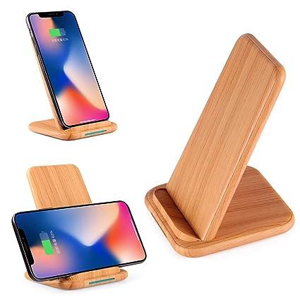 Amazon.com: Omio - Cargador inalámbrico de madera para ...