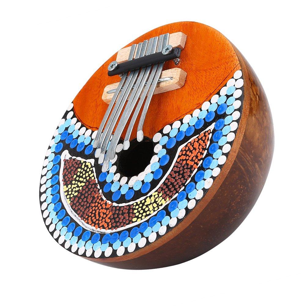 7llave Pulgar Piano, profesional portátil Mbira Instrumento para Amantes de la música Dilwe Dilwe28sgc96t4f