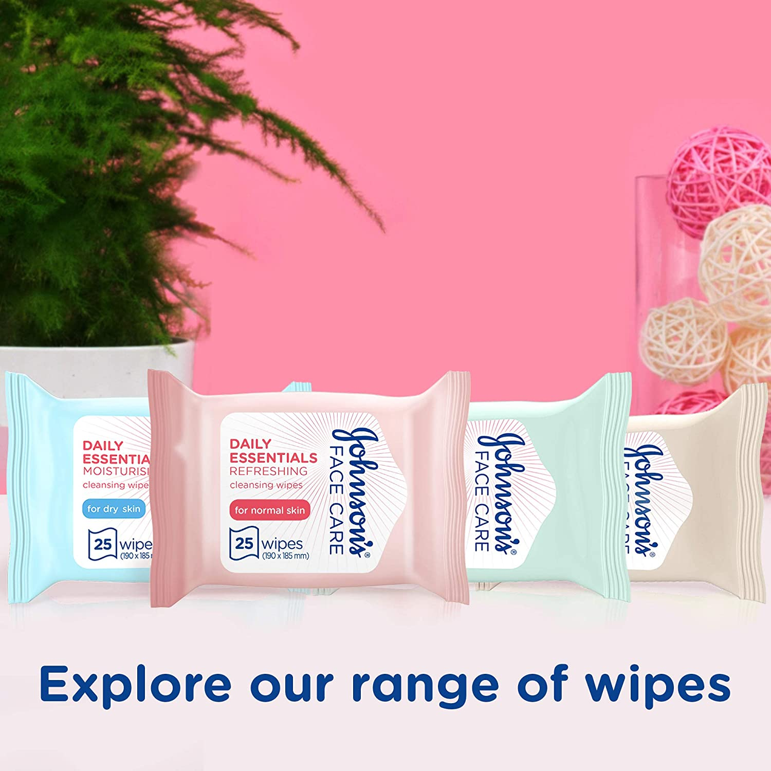 Johnsons Daily Essentials Facial Cleansing Wipes 25