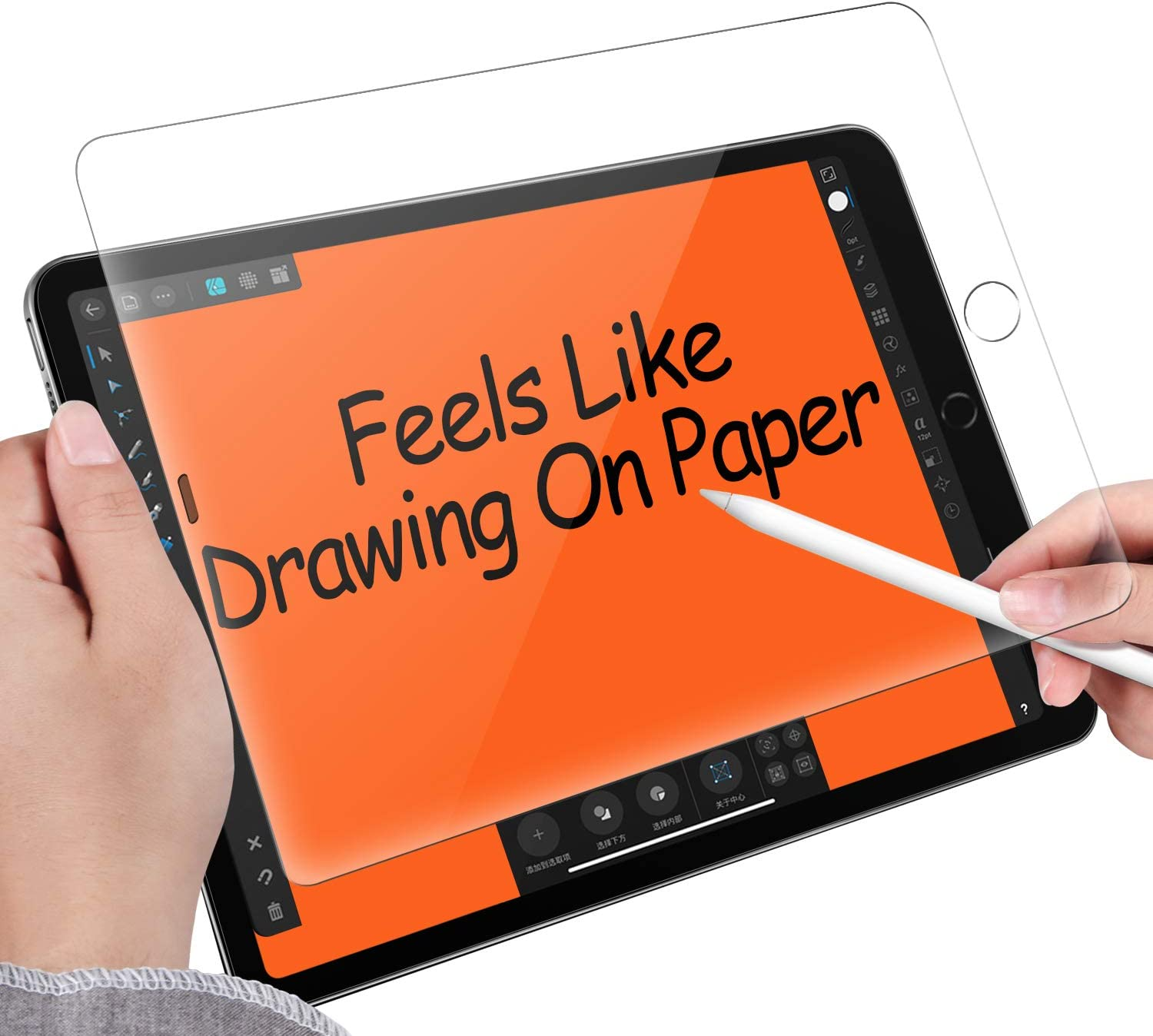 Paper Screen Protector Compatible with iPad 10.2 inch(iPad 7/8th generation 2019/2020 Release) Drawing Writing Sketch Feel Like Paper,Anti Glare Matte PET Film Compatible with Apple Pencil(1Pack)