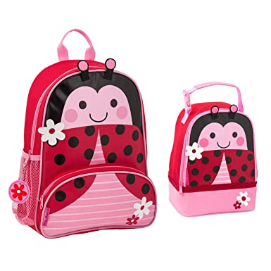 51126d591a Stephen Joseph Girls Sidekick Ladybug Backpack and Lunch Pal for Kids