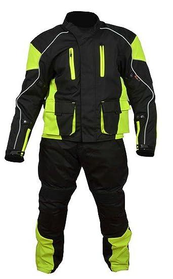 Traje de alta visibilidad para motocicleta, 100% resistente ...
