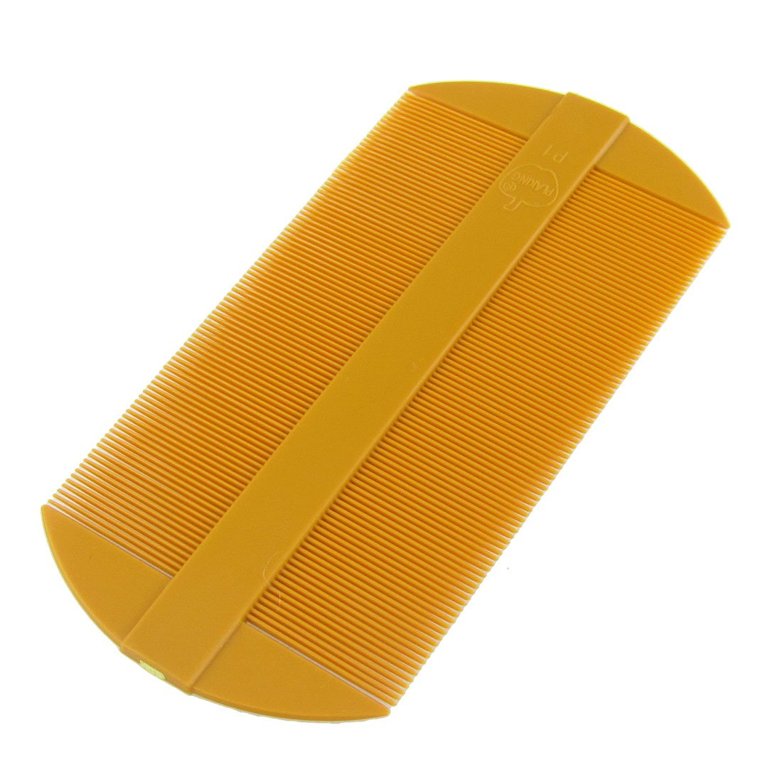 uxcell Amber Fine Tooth Portable Two Side Plastic Hair Comb 2 Pcs a12022800ux0345