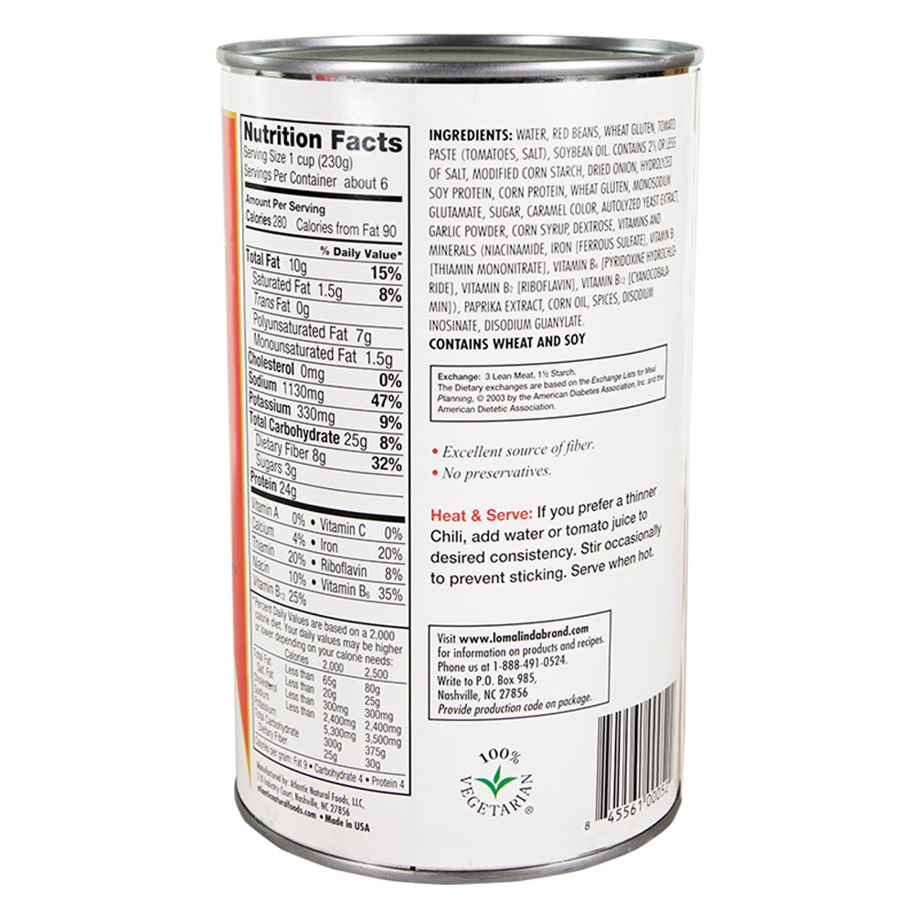 Loma Linda - Plant-Based - Chili (50 oz.) (Pack of 6) - Kosher by Loma Linda (Image #5)