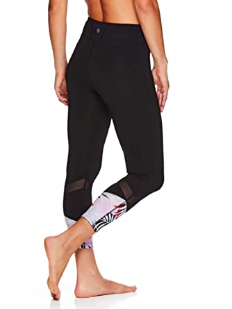 461b045571516 Amazon.com: Gaiam Women's High Rise Waist Capri Yoga Pants - Performance  Spandex Compression Leggings: Clothing
