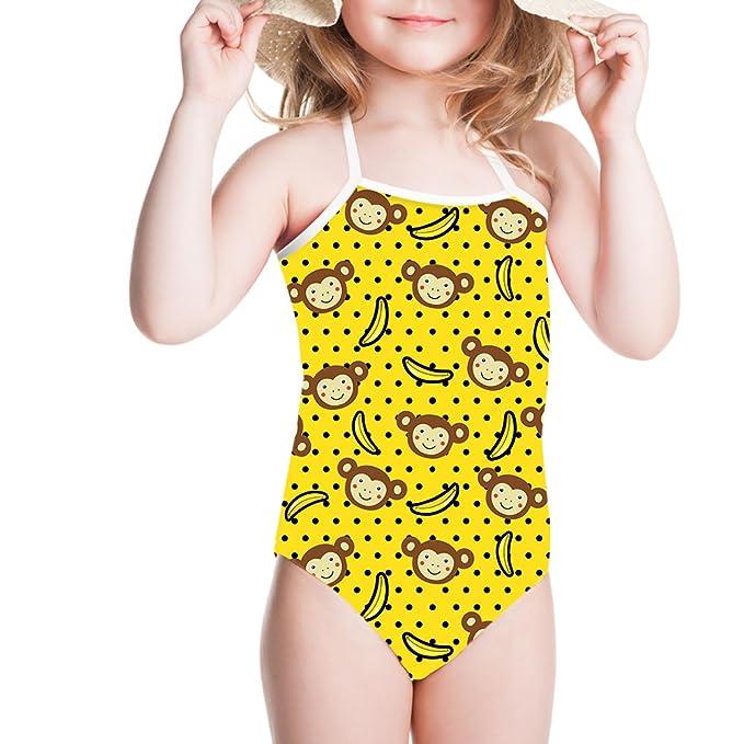 1b339cd893f Girls Sports & Outdoors Sannovo Kids Bathing Suits Girls Bikini One-Piece  Swimwear Summer 2018
