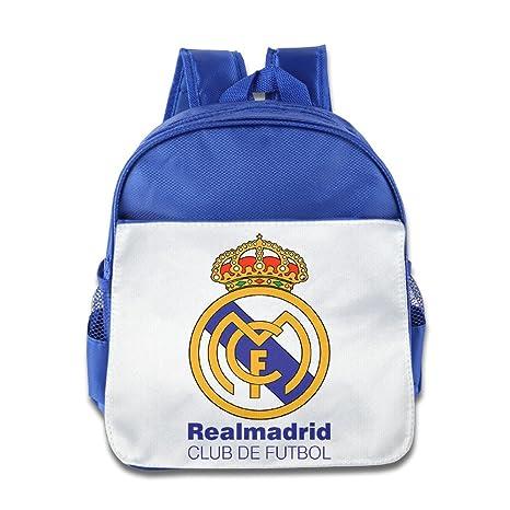 Real Madrid Club de Futbol Mochila Niños Mochila Escolar Rosa RoyalBlue talla única