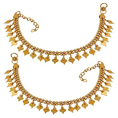 Buy Amaal Traditional Jewellery Gold Chain Anklet/Payal