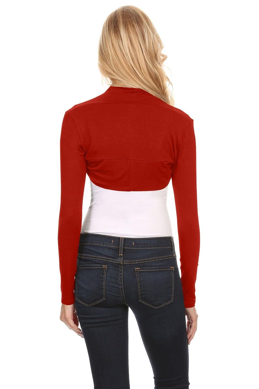 Made in USA Simlu Long Sleeve Bolero Shrug for Women