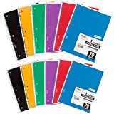 Mead Spiral Notebooks, College Ruled, 70 Sheets, Assorted Colors, 12 Pack (73703)