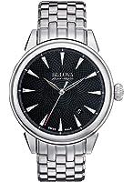 Bulova AccuSwiss - 63B174 - Gemini - Montre Homme - Automatique Analogique - Cadran Noir - Bracelet Acier Argent