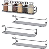 NEX 4 Pack Spice Rack Wall Mounted Spice Shelf for Cabinet Pantry Door