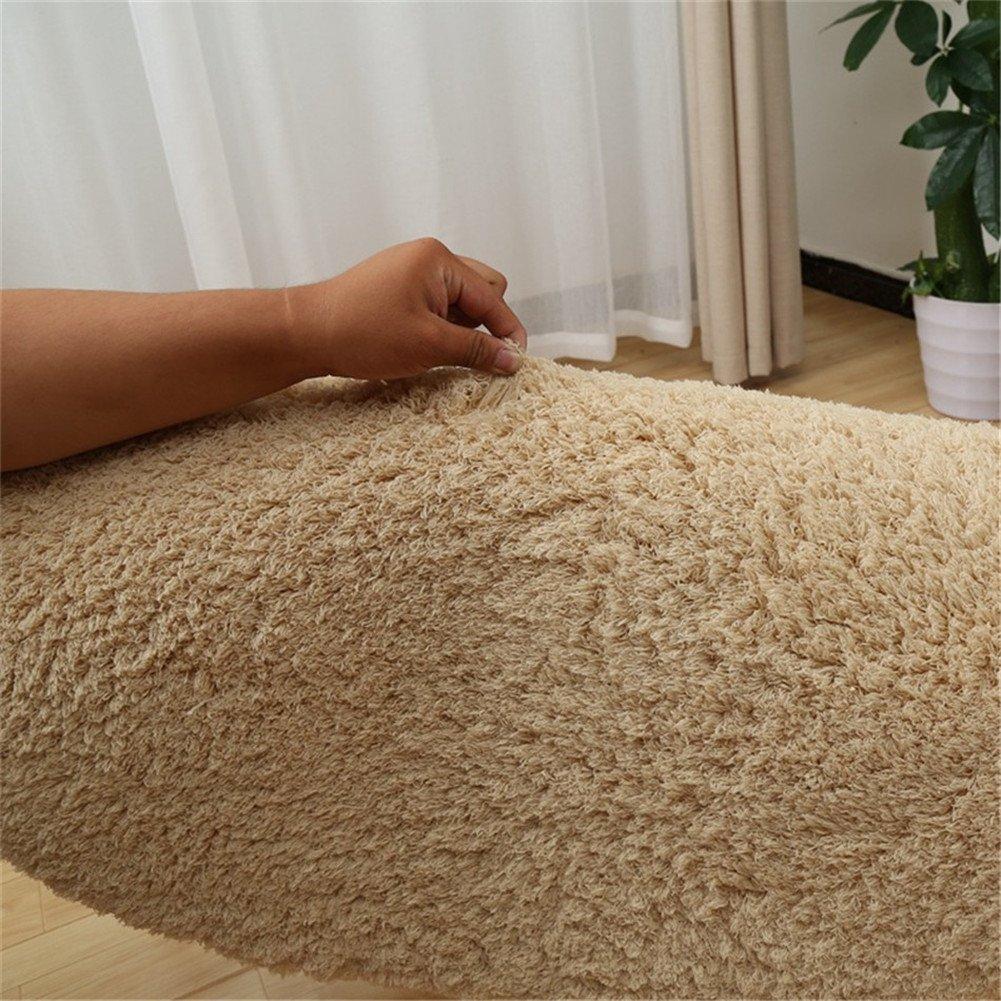 Zinsale Redondo S/ólido Lana de seda Alfombra Shag Interior Alfombras mullidas para la sala de estar Verde, Dia:80cm
