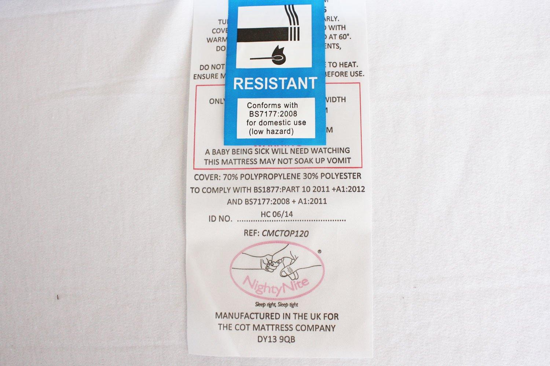 76 x 40 x 5cm NightyNite/® Platinum Pocket Sprung Crib Mattress with 50CMHR Foam and Luxury Microfibre Cover