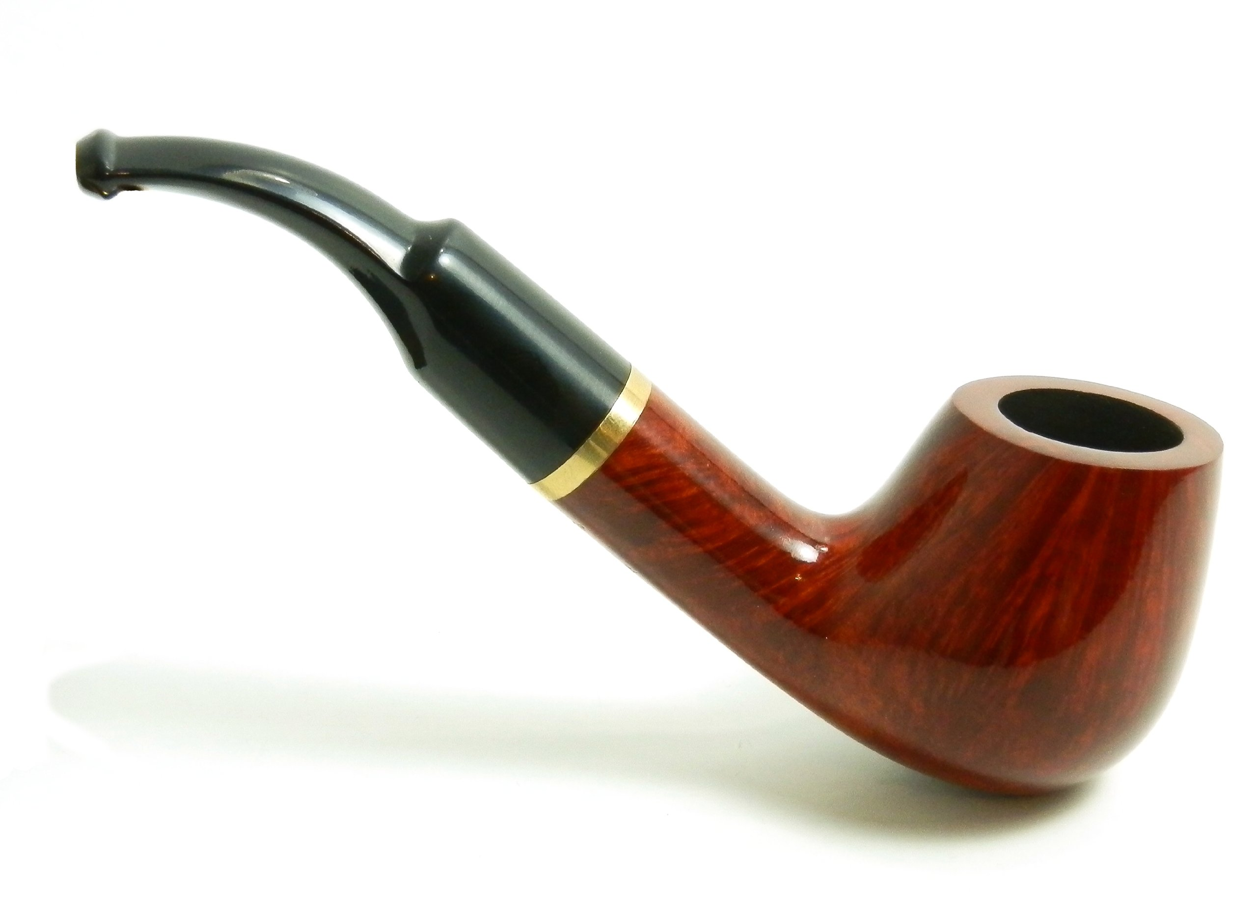 Mr. Brog Full Bent Tobacco Pipe - Model No: 67 Full Bent Pecan - Mediterranean Briar Wood - Hand Made