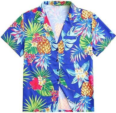 CAOQAO Camisa Hawaiana Hombre Flores Manga Corta Camisas Flojo XXL-XXXXXL: Amazon.es: Ropa y accesorios