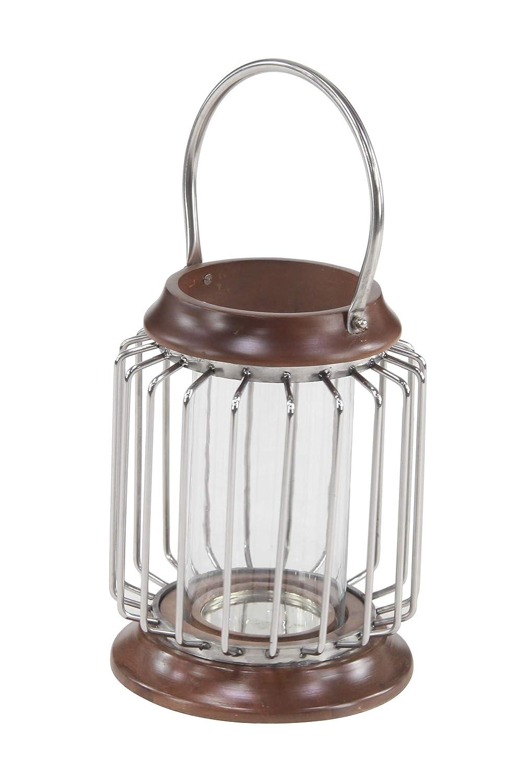 Brown Deco 79 Decorative Candle Lanterns Small Silver
