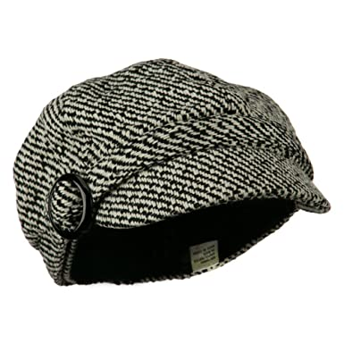 6eaf80cc3946a1 Muffy Patterned Newsboy Cap - Black 7-1-4. Roll over image to zoom in. Jeanne  Simmons
