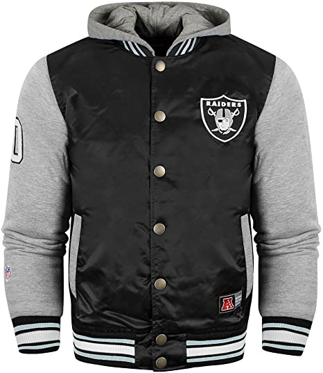 Majestic NFL Oakland Raiders Besson Chaqueta con Capucha Athletic Negro  Negro X-Small 5f78e37564f