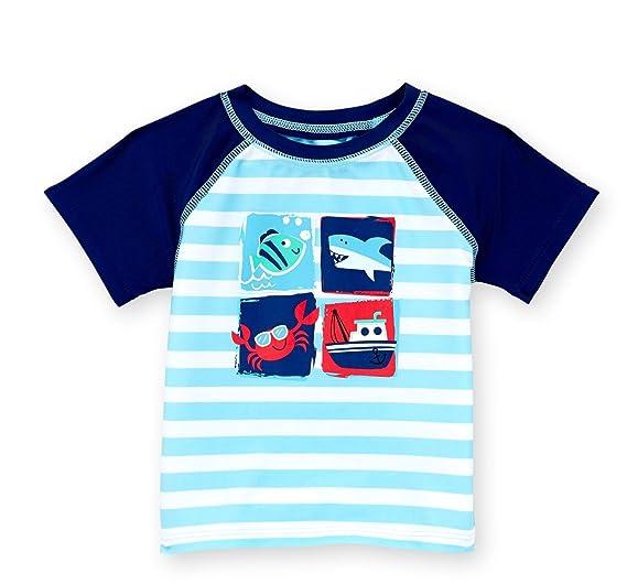 41c870396 Amazon.com  Healthtex Baby Boys Blue Striped Rash Guard Shirt Top ...