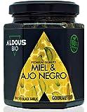 Auténtica Miel Ecológica con Ajo Negro ecológico | Producto Gourmet de Calidad Premium | 100% Natural y Artesanal | Sin Azúcar Añadido | Producida en España | Certificación ecológica oficial | 240g