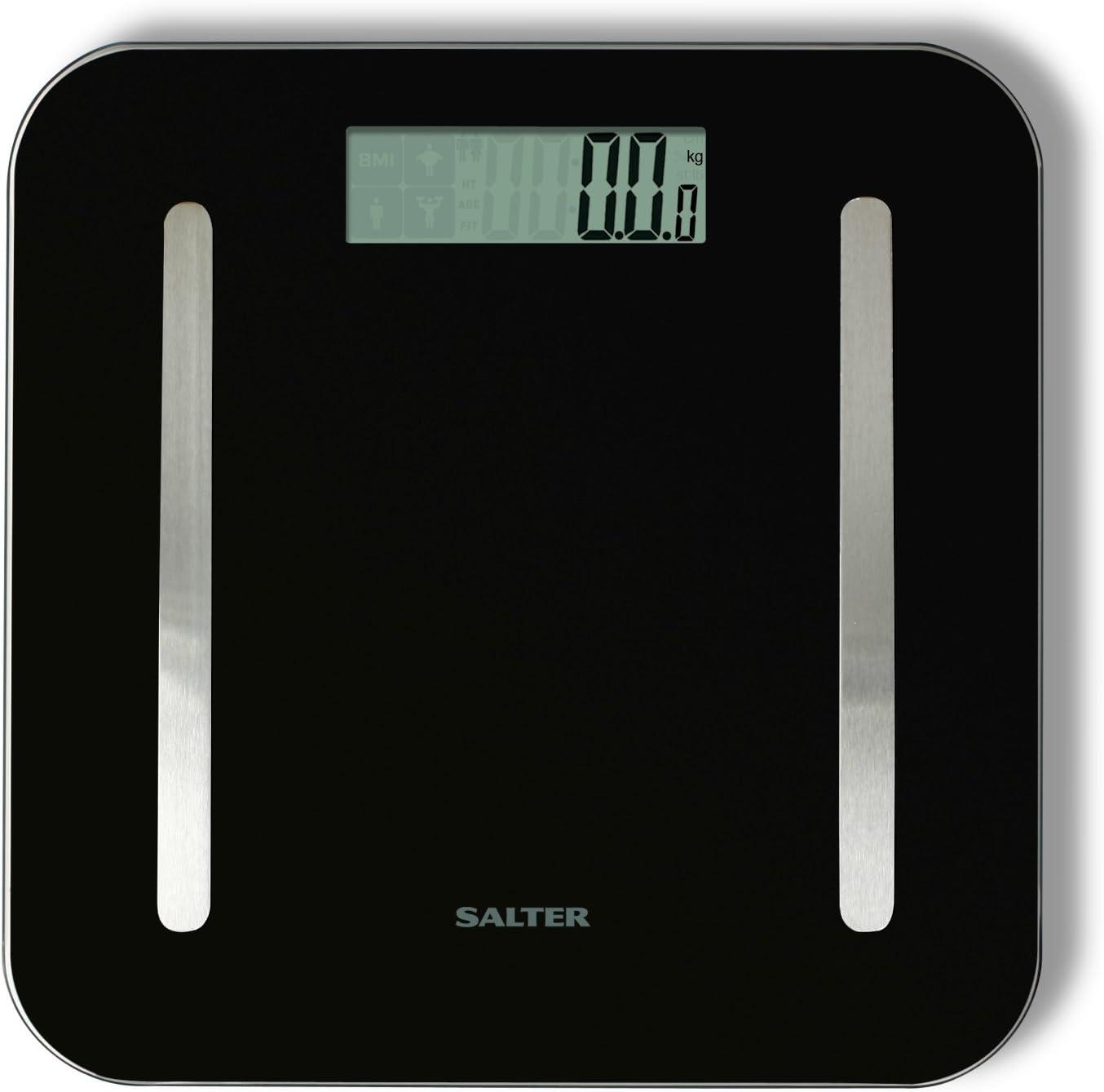 Salter 9147 BK3R - Báscula de baño con soporte Stowaweigh: Amazon ...