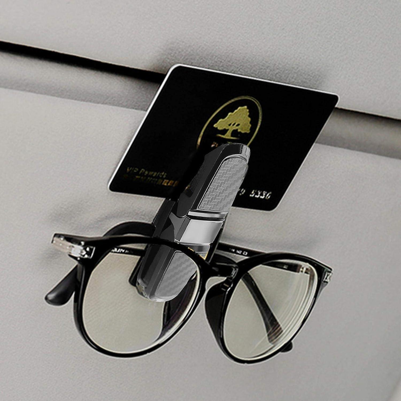 Double Side Clip Car Glass Holder for Sunglass Glasses,Tickets Card,Car Sun Visor Glass Holder