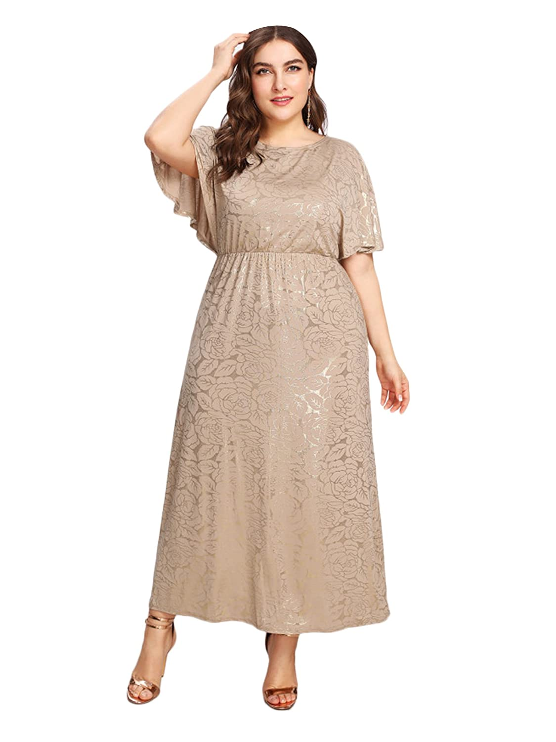 46c1efab05f ESPRLIA Women s Plus Size Sequin Party Club Cocktail Maxi Night Gowns Dress  at Amazon Women s Clothing store