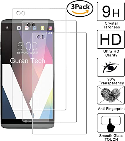 Guran [3 Unidades] Protector de Pantalla Vidrio Cristal Templado para LG V20 Smartphone Glass Vidrio Templado Film (9H, 2.5D Edge, 0.3mm): Amazon.es: Electrónica
