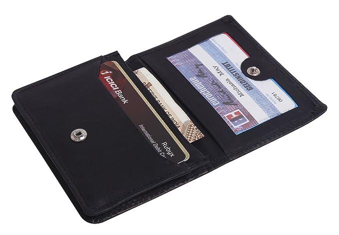 967a6533b826 Super Slim Men's Leather Wallet Credit Card Case Sleeve Card Holder &  Organizer for Men