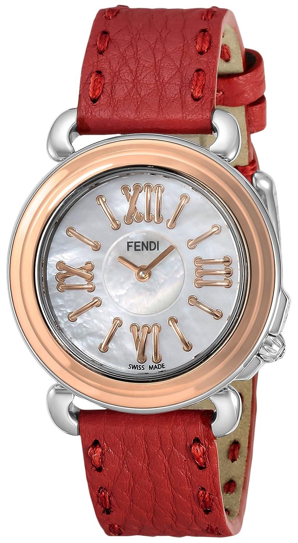 [フェンディ]FENDI 腕時計 セレリア ホワイトパール文字盤 F8012345H0-SSN18-RB7S-SSN-18R-04S レディース 【並行輸入品】 B01N4GL0JJ