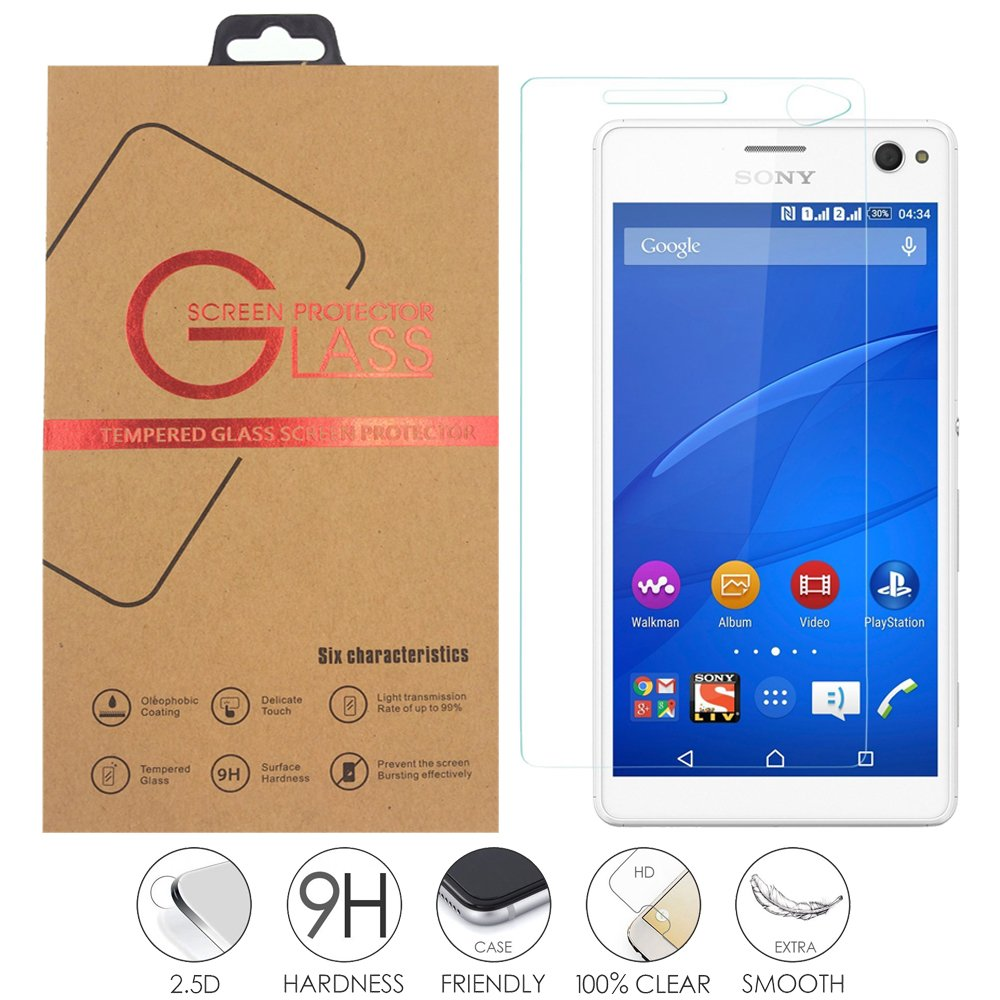 Sony Xperia C4 Tempered Glass Screen Protector Gg Mall C 4 Anti Scratch Explosion Proof Ballistics For