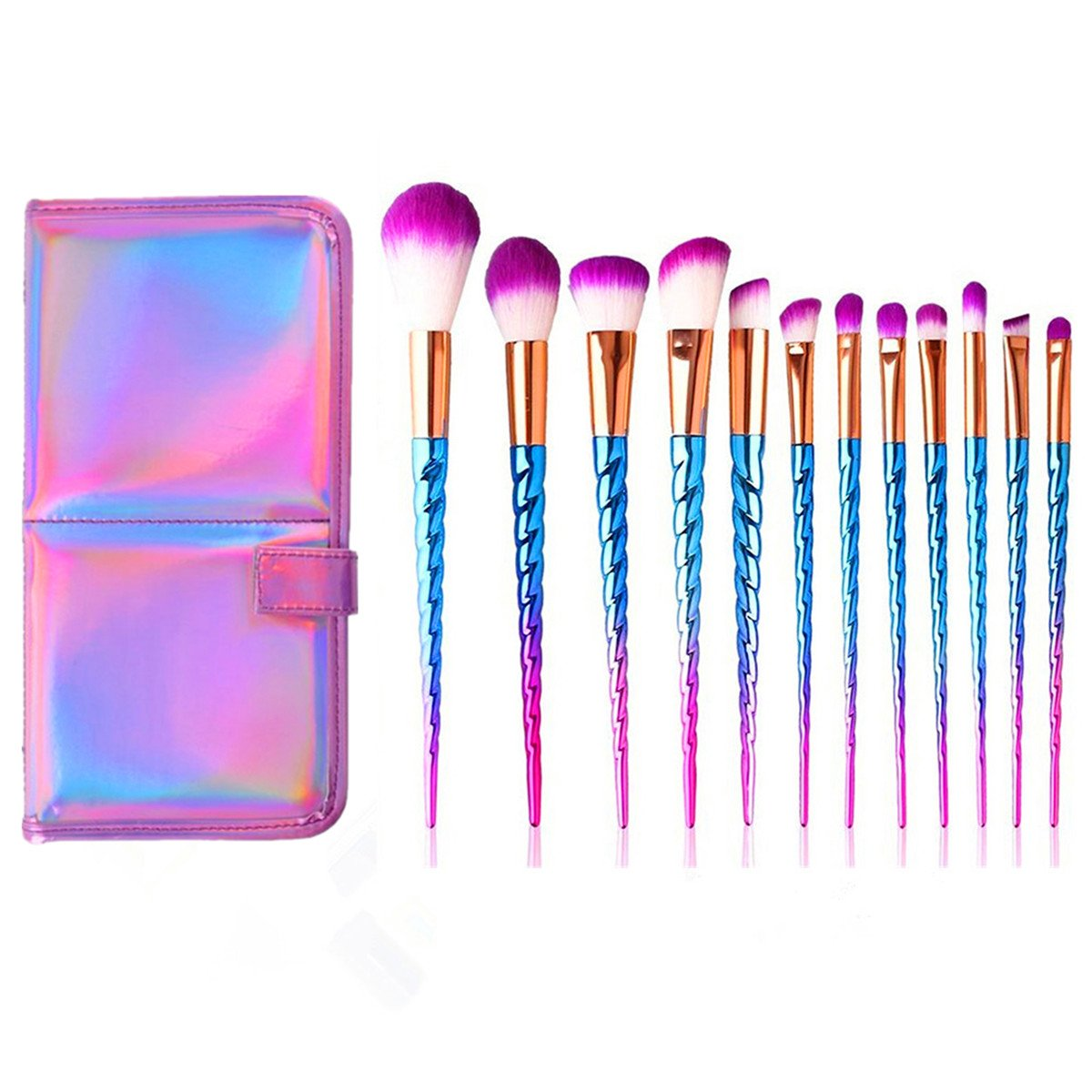 Xixiw Unicorn Makeup Brushes Set Make Up Brush Foundation ...