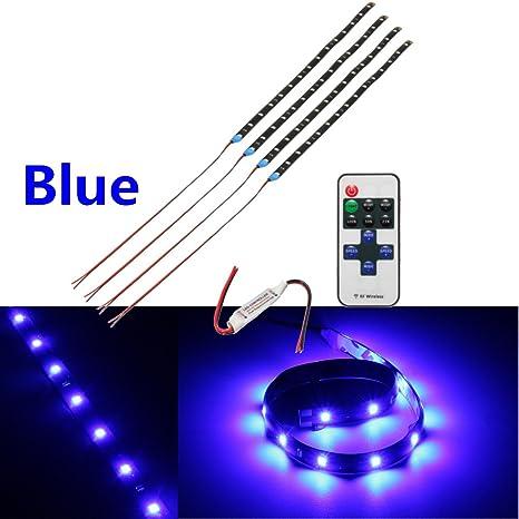 Amazon Com 15 Led Light Flexible Strip Motorcycle Wireless