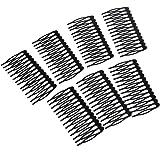 Lot de 10pcs Peigne Epingle à Cheveux 14-Pins en Métal Noir