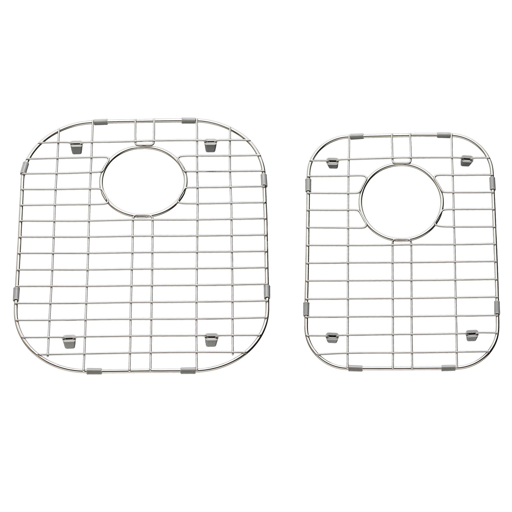 American Standard 7433000.075 2-Pack 13.39-in x 16.06-in Sink Grids, Stainless steel