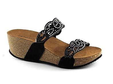 Grunland Mules Grünland PAGE CB1210 sandales compensées noir pantoufles femme s Grunland soldes ARMANI JEANS Sneakers & Tennis basses homme. Md2Mb2hj