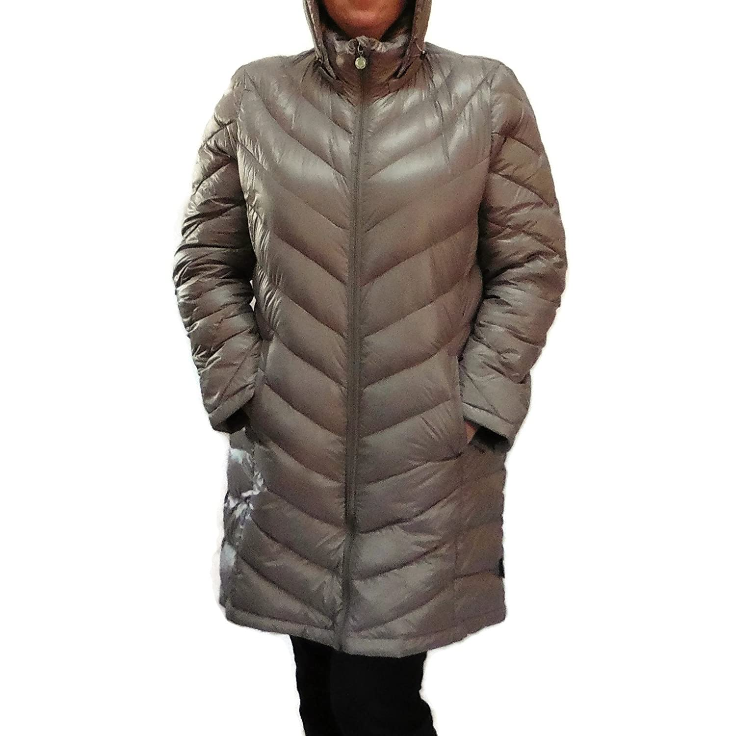e08dd8e94 Calvin Klein Lightweight Packable Down Quilted Puffer Coat-Taupe